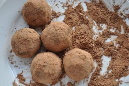 Cocoa Dusted Caramel Truffles