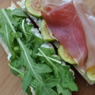 Open-faced Prosciutto, Goat Cheese and Fig Sandwich